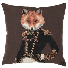 Mr Fox, Feather Scatter Cushion - Barker & Stonehouse