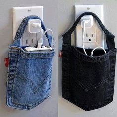 Great idea! Instead of placing phone on floor. Cut off and use a jean backpocket!