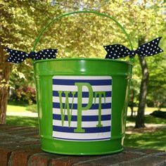 Personalized 10qt Bucket by monogrammarketplace