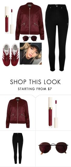 """""""shopping day"""" by brooklynqueen04 ❤ liked on Polyvore featuring River Island, Ray-Ban and adidas"""