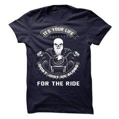 Its your life - custom t shirt neck sweatshirts shirt design Biker T Shirts, T Shirt And Jeans, Sweat Shirt, Tee Shirt, Sweatshirt Refashion, Cat Sweatshirt, Funny Sweatshirts, Hoodies, Recycled T Shirts