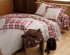 linge de lit coeurs et carreaux | becquet