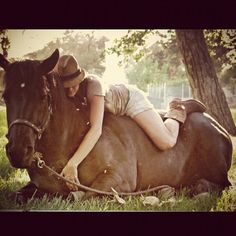 My sister and her beautiful horse... I love this pic!!!!