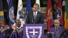 President Obama Delivers Eulogy for Victims of SC Bible Study Massacre Obama Eulogy  #ObamaEulogy