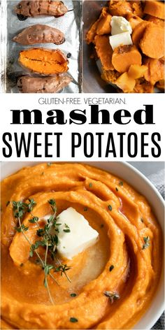 Made with delicious baked sweet potato these smooth and creamy Healthy Mashed Sweet Potatoes are the perfect complement to any lunch or dinner recipe and an easy vegetarian and gluten-free holiday side dish. Mozzarella, Pizza Pasta Salads, Holiday Side Dishes, Baked Salmon, Sans Gluten, Gluten Free, The Best, Dinner Recipes, Food And Drink
