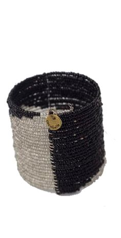 #Cocobelle 2015 Black/Silver Wide Beaded Cuff #Bracelet ABA1012-973 #southbeachswimsuits