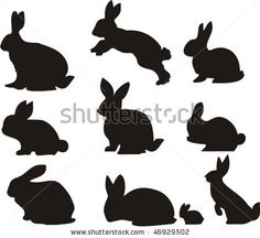 stock vector : Rabbit or Bunnies Silhouette