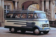 Mercedes L319 Bus. This would be a cool retro wedding bus