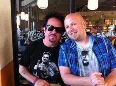 Med Steve Lukather i Studio City, CA.