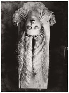 "neuralorgasm:  Man Ray was an American surrealist artist based primarily in Paris. His art is usually classified as Dadaist or Surrealist. He died in 1976 and his tombstone reads ""Indifferent, but not concerned."" This particular photograph is called Woman with Long Hair."