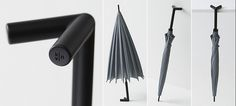 The Stay-brella:  A clever standing umbrella drips dry on its own two feet.  Its splayed feet let you easily hang it off the side of a desk, lean it against a wall with less chance of it toppling over, or just stand it by itself on a flat surface so it can properly drip dry. It's also available in eight stylish but subdued colors, so if you ever manage to get your hands on one, odds are you'll be too attached to ever forget it somewhere.