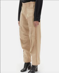 Exposed Dart Denim Trousers by Maison Margiela- La Garçonne Cargo Pants, Khaki Pants, Top Stitching, Outfit Goals, Summer Looks, Fashion Details, Parachute Pants, Trousers, Shorts