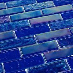 azul Iridescent Glass Tile Summer Cobalt Blue 1 x 3 Blue Aesthetic Pastel, Aesthetic Colors, Rainbow Aesthetic, Design Bleu, Everything Is Blue, Art Vintage, Love Blue, Blue Yellow, Dark Blue