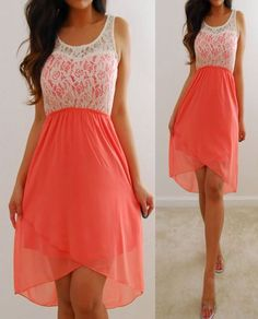 ivory chiffon coral dress - Google Search