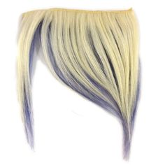 Platinum Blond and Lavender Short N Shaggy Clip-In Bangs at I Kick Shins