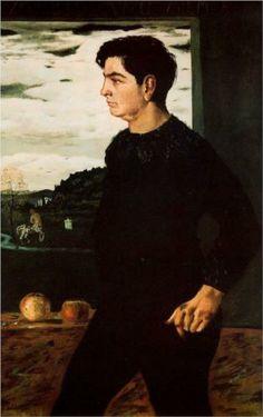 Giorgio de Chirico (1888 - 1978)    Metaphysical Art   Portrait of Andrea, brother of the artist - 1910