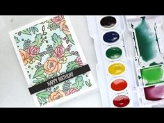 Mixing Custom Colors for Watercolor Painting - Example 1 - (More info on: https://1-W-W.COM/Bowling/mixing-custom-colors-for-watercolor-painting-example-1/)