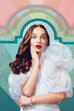 Maddie Ziegler's Sparkly Beauty Shoot for Paper Magazine April 2016 YOUth Issue by JUCO - Dior Spring 2016