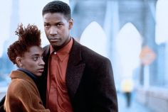 Indigo and Bleek. Joie Lee and Denzel Washington looking very beautiful. #afro