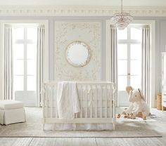 Monique Lhuillier Ivory Lace Baby Bedding #pbkids