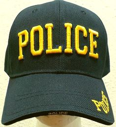 DELUXE COSTUME GOLD POLICE LAW ENFORCEMENT SHERIFF COPS OFFICER AGENT CAP HAT OS #PremiumHeadwear #BaseballCap