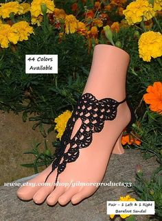 Lace Barefoot Sandals Shoes Bridal Anklet by gilmoreproducts33