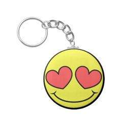 Love Face Keychain  $3.70  by templeofswag  - cyo customize personalize unique diy