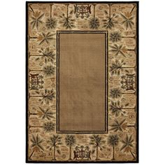 Mohawk Home�Select Versailles Courtyard Palms 5-ft 3-in x 7-ft 10-in Rectangular Brown Transitional Area Rug