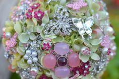 Wedding bouquet -- spring flower brooch bouquet.