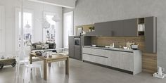 Fitted kitchen with integrated handles KALÌ by ARREDO 3