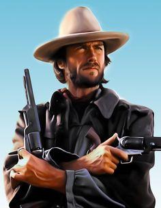 Clint Eastwood, Anthony J  Jones on ArtStation at https://www.artstation.com/artwork/clint-eastwood-59959710-89e5-48c1-838b-5fc0feac7292