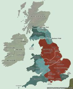 Step through the Roman conquest of Britain from AD 43 until the end of Roman Britain in AD 409 and the aftermath in AD 425 in a series of highly detailed maps. Map Of Britain, Roman Britain, Uk History, European History, Family History, Learn Welsh, Anglo Saxon Kingdoms, Anglo Saxon History, Celtic Culture