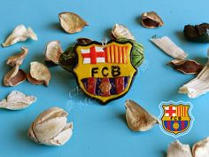 Llavero del F.C. Barcelona hecho de fimo