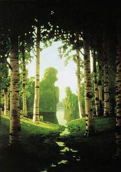 "Arkhip Ivanovich Kuindzhi 1901 ""A Birch Grove"""