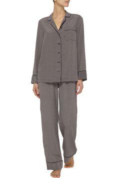 EquipmentAvery printed washed-silk pajama setfront