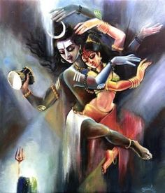 Lord Shiva and Parvati The Divine couple yugal swaroop in creative art painting wallpaper Arte Shiva, Shiva Tandav, Shiva Parvati Images, Shiva Art, Krishna Art, Hindu Art, Rudra Shiva, Lord Shiva Pics, Lord Shiva Hd Images