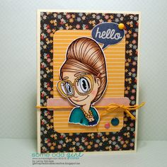 Hello ... @someoddgirl digi: Beehive Mae + sentiment from Hey Mae (clear)  Patterned papers: Solstice @pinkpaislee