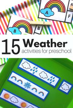 Weather activities for preschool that are fun, hands-on, and enaging. Weather crafts, weather sensory activities, and more! Weather Activities Preschool, April Preschool, Seasons Activities, Free Preschool, Preschool Themes, Preschool Printables, Preschool Lessons, Preschool Kindergarten, Spring Theme For Preschool
