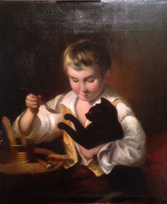 John Opie 1761-1807, A Young Boy Teasing his Cat