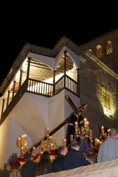 Cristo al paso por Palacio de Peñaflor. Guadix