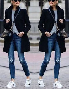 Autumn and winter fashion pure color warm coat – Stagesmile Herbst und Winter Mode reine Farb. Mode Outfits, Stylish Outfits, Winter Outfits, Fashion Outfits, Winter Clothes, Autumn Casual Outfits, Fall Work Outfits, Fashion Boots, Fashion Sandals