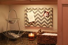 Fresh and Fancy: {DIY} Chevron Bulletin Board