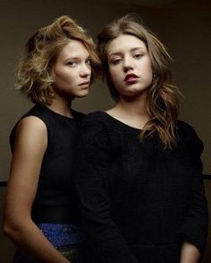 Lea Seydoux and Adele Exarchopolous ❤️ Beautiful Person, Beautiful People, Lea Seydoux Adele, Adele Love, Adele Exarchopoulos, Blue Is The Warmest Colour, Celebrity Magazines, French Actress, Carrie Fisher