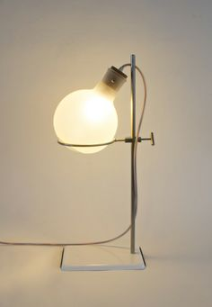 """Chemie No. 3"" table lamp by Rolf Sachs. (h/t @Bonnie S. Tsang)"
