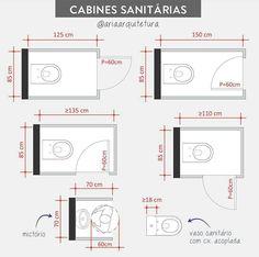 Wc Design, Bathroom Design Layout, Toilet Design, Plan Design, Bathroom Interior Design, Dimension Wc, Wc Public, Architect Data, Toilet Plan