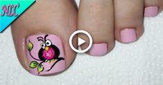 Owl Nail Art, Owl Nails, Best Nail Art Designs, Toe Nail Designs, Margarita Nails, Feet Nail Design, Camouflage Nails, Acrylic Nails Stiletto, Cotton Candy Nails