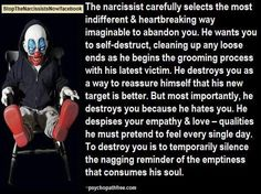 The Narcissist selects how to abandon