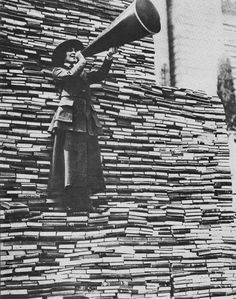 Call for book donations, New York Public Library, c.1918.