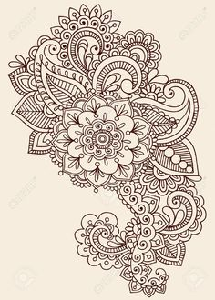 Henna Paisley Flowers Mehndi Tattoo Doodles Design- Abstract.. Royalty Free Cliparts, Vectors, And Stock Illustration. Pic 17164965.