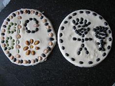 Salt dough bean art